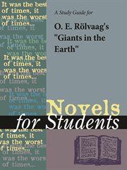 """A Study Guide for O. E. Rolvaag's """"giants in the Earth"""""""