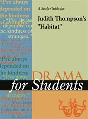 """A Study Guide for Judith Thompson's """"habitat"""""""