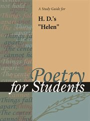 """A Study Guide for H. D.'s """"helen"""""""