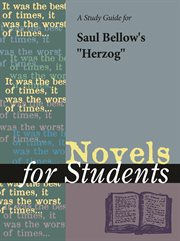 "A Study Guide for Saul Bellow's ""herzog"""