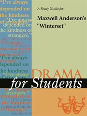"A Study Guide for Maxwell Anderson's ""winterset"""