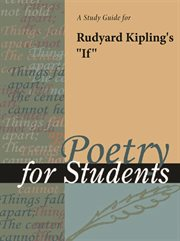 """A Study Guide for Rudyard Kipling's """"if"""""""