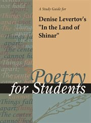 "A Study Guide for Denise Levertov's ""in the Land of Shinar"""