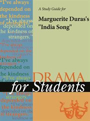 """A Study Guide for Marguerite Duras's """"india Song"""""""