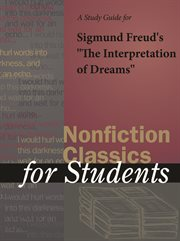 "A Study Guide for Sigmund Freud's ""the Interpretation of Dreams"""