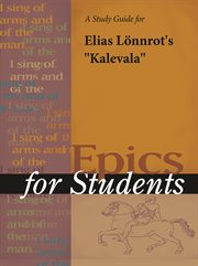 "A Study Guide for Elias Lonnrot's ""kalevala"""
