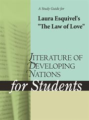 """A Study Guide for Laura Esquivel's """"the Law of Love"""""""