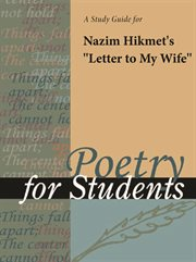 """A Study Guide for Nazim Hikmet's """"letter to My Wife"""""""
