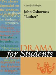 """A Study Guide for John Osborne's """"luther"""""""