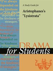 "A Study Guide for Aristophanes's ""lysistrata"""