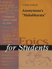 """A Study Guide for Anonymous's """"mahabharata"""""""