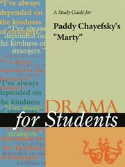 """A Study Guide for Paddy Chayefsky's """"marty"""""""