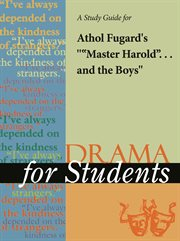 """A Study Guide for Athol Fugard's """"master Harold"""" ... and the Boys (""""master...)"""""""