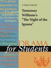 "A Study Guide for Tennessee Williams's ""night of the Iguana"""