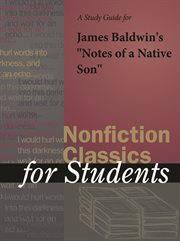 "A Study Guide for James Baldwin's ""notes of A Native Son"""