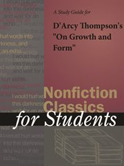 """A Study Guide for D'arcy Thompson's """"on Growth and Form"""""""