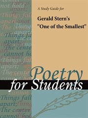 "A Study Guide for Gerald Stern's ""one of the Smallest"""
