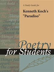 "A Study Guide for Kenneth Koch's ""paradiso"""