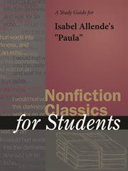 """A Study Guide for Isabel Allende's """"paula"""""""