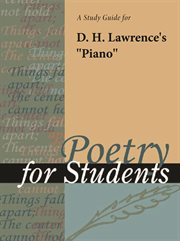 "A Study Guide for D. H. Lawrence's ""piano"""