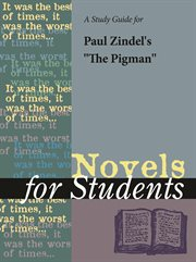 """A Study Guide for Paul Zindel's """"the Pigman"""""""