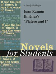 """A Study Guide for Juan Ramon Jimenez's """"platero and I"""""""