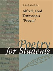 "A Study Guide for Lord Alfred Tennyson's ""proem"""