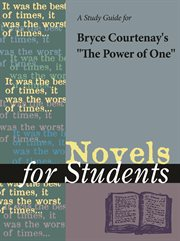 "A Study Guide for Bryce Courtenay's ""the Power of One"""