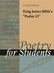 """A Study Guide for King James Bible """"psalm 23"""""""