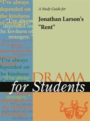 """A Study Guide for Jonathan Larson's """"rent"""""""