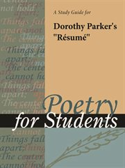 "A Study Guide for Dorothy Parker's ""resume"""
