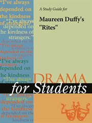 "A Study Guide for Maureen Duffy's ""rites"""