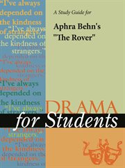 "A Study Guide for Aphra Behn's ""the Rover"""
