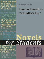 "A Study Guide for Thomas Keneally's ""schindler's List"""