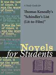 """A Study Guide for Thomas Keneally's """"schindler's List (lit-to-film)"""""""