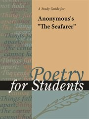 """A Study Guide for Anonymous's """"the Seafarer"""""""