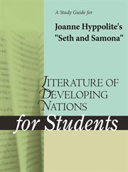 "A Study Guide for Joanne Hyppolite's ""seth and Samona"""