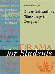 "A Study Guide for Oliver Goldsmith's ""she Stoops to Conquer"""