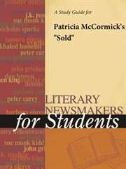 "A Study Guide for Patricia Mccormick's ""sold"""