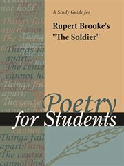 """A Study Guide for Rupert Brooke's """"the Soldier"""""""