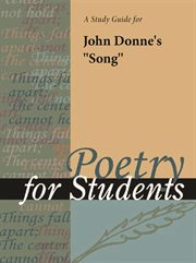 """A Study Guide for John Donne's """"song"""""""