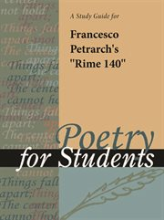 "A Study Guide for Petrarch's ""sonnet (rime) 140"""