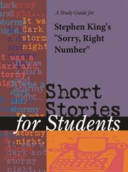 """A Study Guide for Stephen King's """"sorry, Right Number"""""""