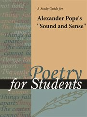 "A Study Guide for Alexander Pope's ""sound and Sense"""