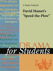 """A Study Guide for David Mamet's """"speed-the-plow"""""""