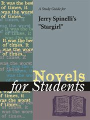 """A Study Guide for Jerry Spinelli's """"stargirl"""""""