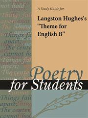 """A Study Guide for Langston Hughes's """"theme for English B"""""""