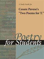 """A Study Guide for Cesare Pavese's """"two Poems for T."""""""