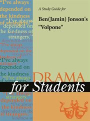 "A Study Guide for Ben Jonson's ""volpone"""