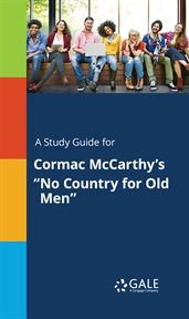"""A study guide for Cormac McCarthy's """"""""No Country for Old Men"""""""" cover image"""
